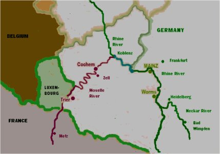 Mosel River Germany Map.Side Trips In Germany 19 September 2012